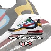 Nike 休閒鞋 Air Max 270 React 白 彩色 男鞋 後跟氣墊設計 運動鞋 【ACS】 DA2610-161