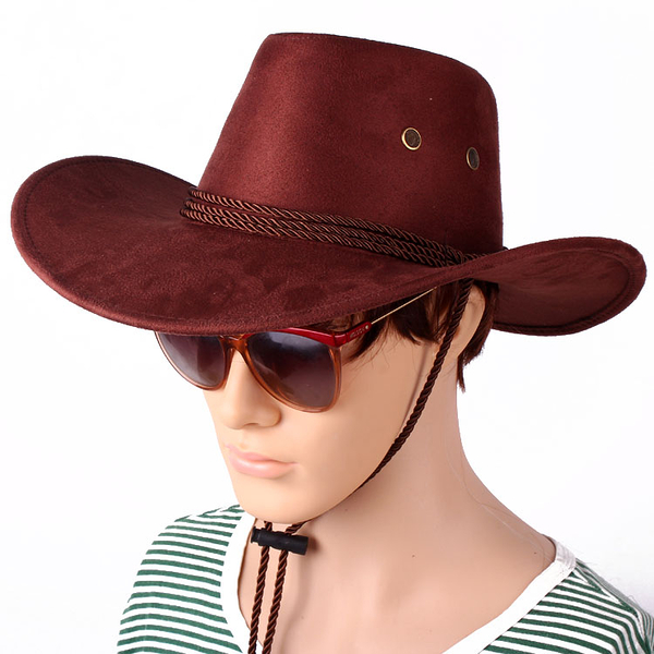 帽子 男春夏季西部牛仔帽 男女士帽子大沿騎馬帽遮陽草帽防曬帽