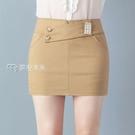 窄裙春夏新款彈力包臀裙職業半身裙高腰顯瘦一步短裙防走光裙27日 快速出貨