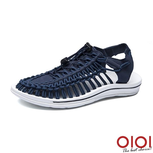 涼鞋 輕潮玩酷編織繩情侶鞋(男女款-寶藍)*0101shoes【18-D888b】【現+預】