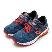 LIKA夢 LOTTO 21cm-24.5cm 雙密度避震輕量跑鞋 2 color 雙色動力系列 藍螢橘 1626 大童