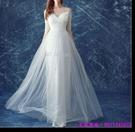 (45 Design) 訂製款 7天到貨禮法國蕾絲修身一字公主新娘婚紗禮服齊地蓬蓬顯瘦3