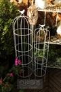 鐵藝鳥籠架爬藤花架小鳥花架鐵線蓮鳥籠爬藤架庭院花園裝飾 LX 智慧e家 新品