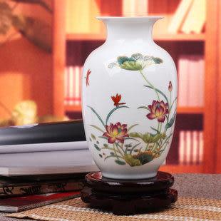 春荷花 粉彩花瓶