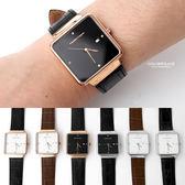 范倫鐵諾˙古柏方形簡約皮革錶  柒彩年代【NEV27】單支價格
