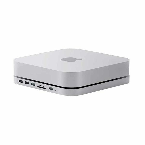 集線器和HDD機櫃2合1 Hagibis Type-C Docking Station & Stand 支持5TB以內擴充 適用Mac Mini M1 銀 [2美國直購]