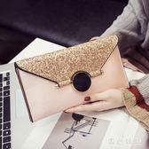 新款信封斜挎小包包韓版時尚個性百搭氣質手拿包 aj8156『黑色妹妹』