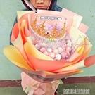 99顆棒棒糖花束玫瑰香皂花送女友生日創意禮物情人節卡通花束禮品YDL