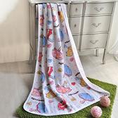義大利Fancy Belle《甜蜜小雨傘》色坊針織涼被(100*140CM)