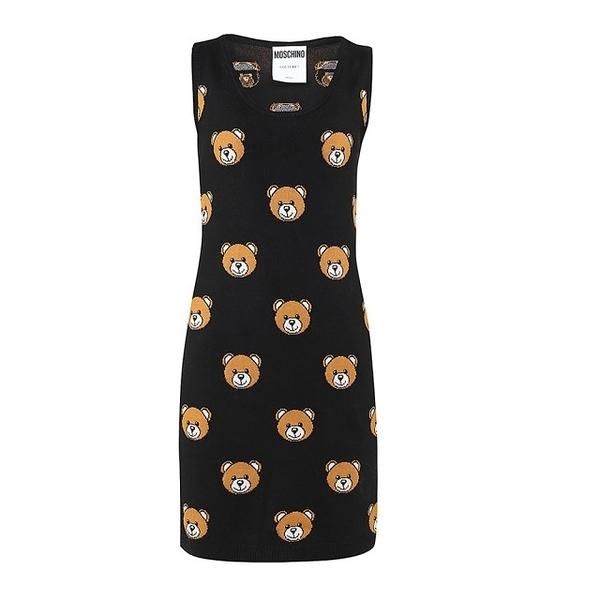 【MOSCHINO】熊熊背心洋裝(黑色)  3X A 0481 9100 1555