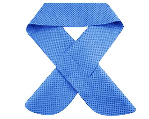 瞬涼降溫領巾 藍|冰涼巾 冰領巾 降溫領巾 消暑商品【mocodo 魔法豆】