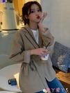 西裝外套 西裝外套女裝春秋季百搭網紅西服2021新款爆款小個子薄款長袖上衣 愛丫 免運