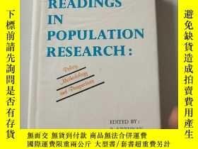 二手書博民逛書店READINGS罕見IN POPULATION RESEARCH:POlicy,methodology and p