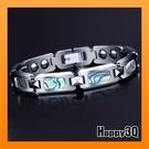 鎢金手環陶瓷手鍊貝殼能量手環獨一無二天然能量手環運動鑲嵌磁石鈦鋼手環【AAA3116】預購