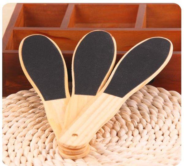 TwinS木製高級雙面磨皮板 搓腳板可去除粗皮角質 腳底按摩(大23.5cm)