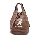 Kangol 托特包 Tote Bag 咖啡 棕 白 女款 袋鼠 抽繩設計 水桶包 側背包【PUMP306】 6925300702