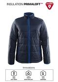 【速捷戶外】瑞典Craft 1904569 PRIMALOFT男防潑保暖外套-深藍, 適合旅遊 登山 滑雪 城市探索