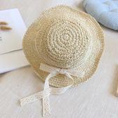 夏季兒童帽子女童韓國小孩沙灘草帽百搭防曬遮陽帽公主韓版漁夫帽『新佰數位屋』
