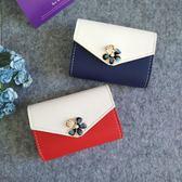 名片夾韓版卡包女式小巧多卡位名片夾銀行卡片收納包軟皮可愛花朵卡夾滿699折89折