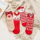 聖誕韓系大鼻子動物中筒大人襪 聖誕襪 大人襪 襪子
