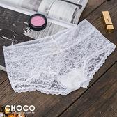 偷心戀人‧高質感蕾絲透膚彈性內褲(白色) S~L Choco Shop