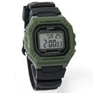 CASIO卡西歐軍綠方形電子錶 NEC136