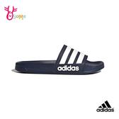 adidas ADILETTE CLOUDFOAM 成人男款 運動拖鞋 拖鞋 S9300#藍色◆OSOME奧森鞋業