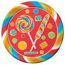 派對 餐具 9吋圓盤8入-糖果派對...