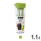 日本ASVEL冷泡專用冷水壺1.1L / 廚房用品 夏日清涼 透明質感 防漏 果汁 咖啡 茶水 飲料