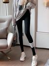 秋季褲子新款女裝淺灰色外穿打底褲春秋款黑色運動緊身窄管褲  魔法鞋櫃