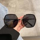 新款圓框大框眼鏡韓版潮抖音網紅茶色墨鏡女ins風太陽鏡大臉顯瘦2021新款明星同款