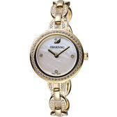 施華洛世奇SWAROVSKI璀璨光輝鍊式腕錶-金色 5253335