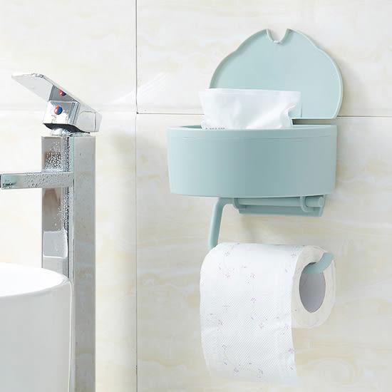 ✭米菈生活館✭【Q246】兩用壁掛式紙巾盒 餐巾 濕紙巾 收納架 擦手巾 抽取 捲筒 紙架 衛浴 按壓