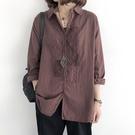 棉麻襯衫女秋季新款寬鬆大碼中長款蕾絲拼接長袖上衣文藝亞麻襯衣聖誕交換禮物