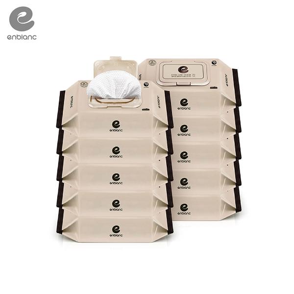 【愛吾兒】韓國 ENBLANC 米色濕紙巾(盒裝/箱購10包) 72抽/厚度65gsm