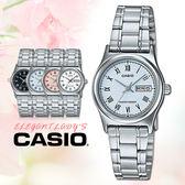 CASIO 手錶專賣店 卡西歐手錶 LTP-V006D-2B 女錶 羅馬數字 指針錶 不鏽鋼錶帶 粉藍