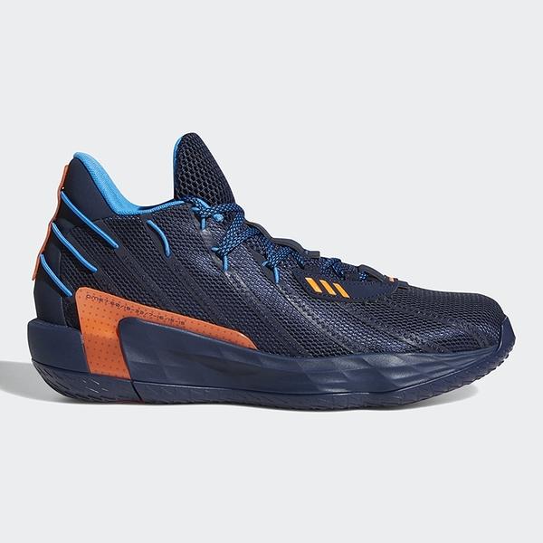 ADIDAS DAME 7 LIGHTS OUT 男鞋 籃球 緩震 Lightstrike中底 里拉德 藍 橘【運動世界】FZ1103