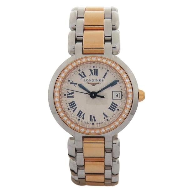 LONGINES PRIMALUNA 心月系列flinque飾紋錶盤腕錶 L8.110.5【二手名牌 BRAND OFF】