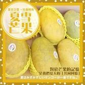 【果之蔬-全省免運】夏雪芒果X1箱(10斤±10%含箱重/箱 約15-22顆)