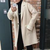 風衣男秋冬季新款羊羔毛中長款大衣韓版潮流男生文藝復古加厚外套