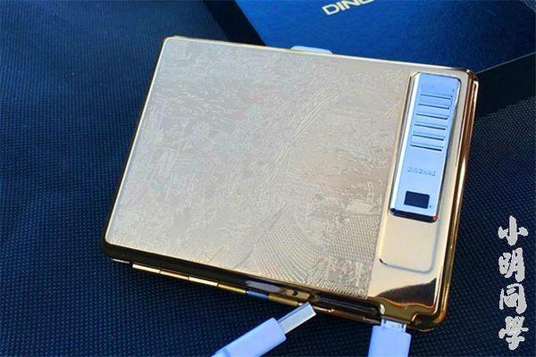 20支裝不銹鋼金屬自動彈開菸盒