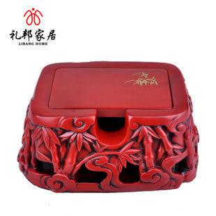 節節高名片盒商務辦公禮品擺件實用創意品擺設商務裝飾品炭雕擺件