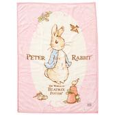 【奇哥】圓點比得兔幼兒毛毯禮盒 100x140公分(粉)