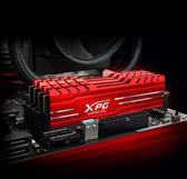 威剛 XPG GAMMIX D10 DDR4 3600 16GB 記憶體(8GX2)(黑色/紅色散熱片)