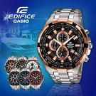CASIO手錶專賣店 卡西歐  EDIFICE EF-539D-1A5 男錶 三眼計時 防水100米 礦物玻璃 碼錶不鏽鋼錶帶