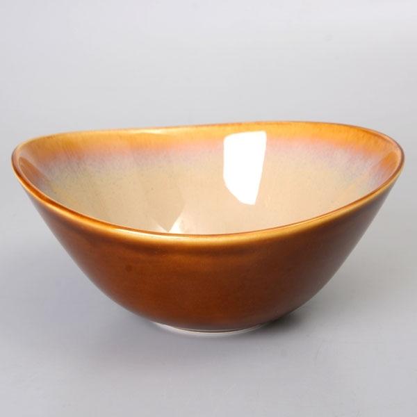 【Luzerne】陸升瓷器 Rustic 19cm 湯碗 716ml-白褐色 /RT3403019