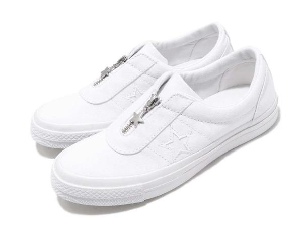 CONVERSE-One Star Slip 中性款白色休閒鞋-NO.564205C
