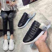 新年鉅惠女鞋秋季2018新款韓版時尚外穿拖鞋毛毛懶人穆勒鞋平底社會女鞋子