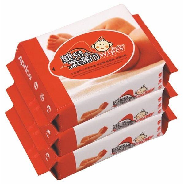 【特價優惠商品】Aprica嬰兒專用超柔濕巾3入 59元【超取限4串】