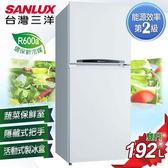 《台灣三洋SANLUX》 192公升雙門電冰箱 SR-B192B3